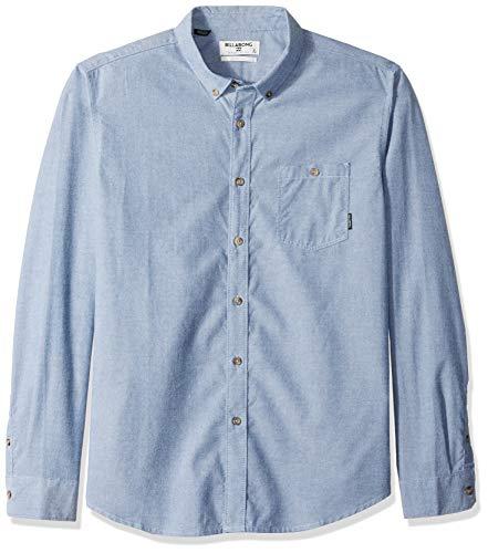 (Billabong Men's All Day Long Sleeve Shirt Blue Medium)