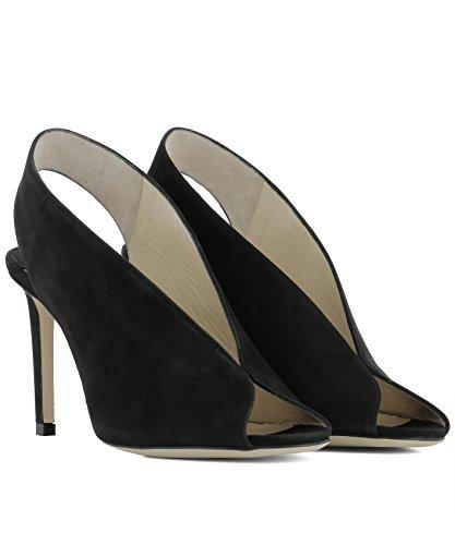 Talons Cuir Chaussures SHAR85SUEBLACK Choo Jimmy À Noir Femme qgIwS