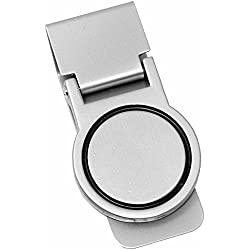 Orbital Matte Silver Stainless Steel Hinged Money Clip