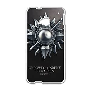HTC One M7 Cell Phone Case White Game of Thrones ztqs