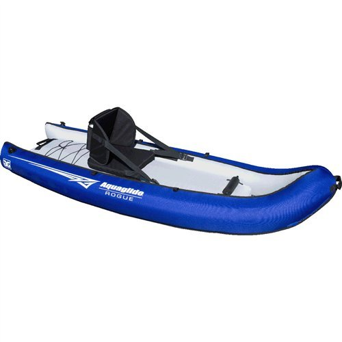 Aquaglide-58-5215025-Rogue-XP-One-8-1-Person-Inflatable-Kayak-w-Rod-Holders