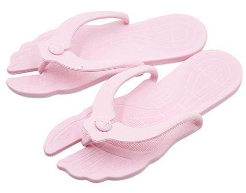 Aibearty Opvouwbare Draagbare Vrouwen Flip Flops Indoor En Outdoor Strand Slippers Roze