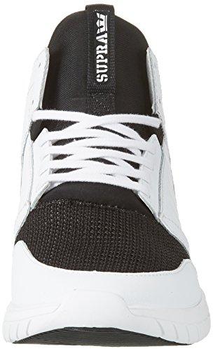 Supra Herren Werkwijze Hoge Sneakers Weiss (wit-wit)