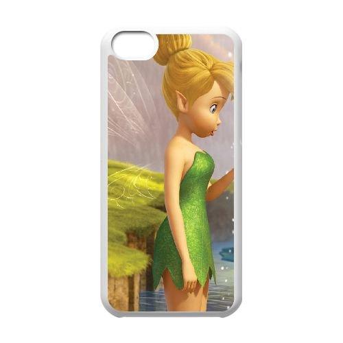 U8V51 Tinkerbell J8H0LS cas d'coque iPhone de téléphone cellulaire 5c couvercle coque blanche IH8LNB7PW