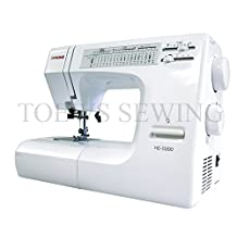 Janome HD5000 Heavy-Duty (All mechanical) Sewing Machine with 18 Built-In Stitches + FREE Hard Case