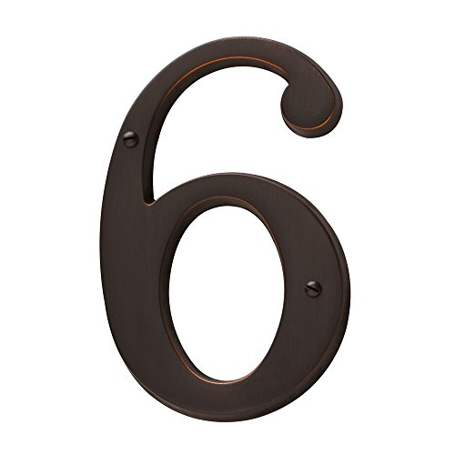 Baldwin Estate 90676.112.CD Solid Brass Traditional House Number Six in Venetian Bronze, ()