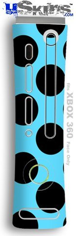 XBOX 360 Faceplate Skin - Kearas Polka Dots Black And Blue