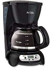 Mr. Coffee Programmable Drip Coffeemaker, 5-Cup, Black Key Pieces