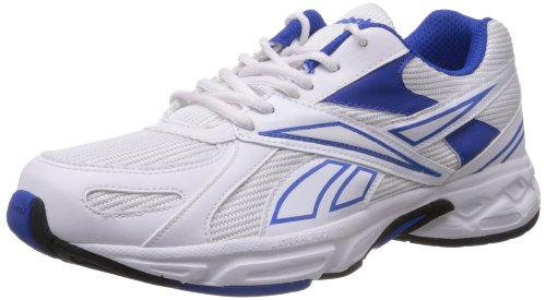 98cf923249dba5 Reebok Men s White and Vital Blue Mesh Running Shoes (M40251) - 7 UK  Buy  Online at Low Prices in India - Amazon.in