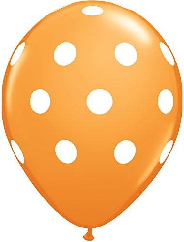 Pioneer Balloon Company 50 Count Big Polka Dots Latex Balloon, 11