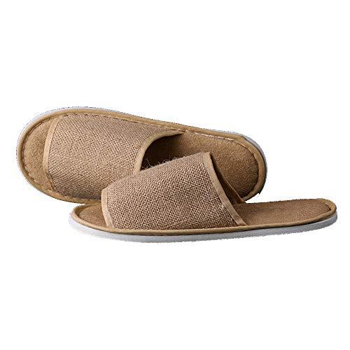 Pantofole In Juta Monouso Antiscivolo L'hotel Da Spa Per Paia Ynn 10 Aperte Traspiranti rqgfr