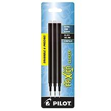 Pilot FriXion Gel Ink Pen Refill, 3-Pack for Erasable Pens, Extra Fine Point, Black Ink (77350)
