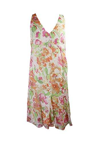 Lauren Ralph Lauren Womens Floral Sleeveless Casual Dress Ivory 6