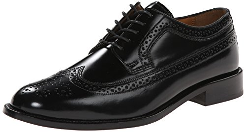 Bostonian Men's Malden Wingtip Oxford, Black, 9.5 ()