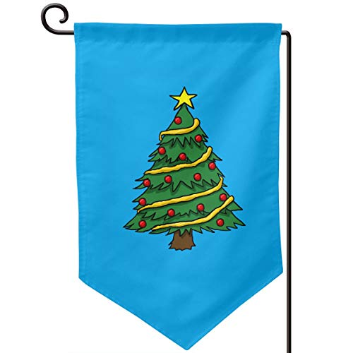 SJFjhsdJGD Christmas Trees Logo Home Garden Flag Vertical Double Sided 12.5 X 18 Inch ()