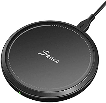 Seneo Wireless Charger, QI Certified Fast Wireless Charging Pad Compatible iPhone Xs/XR/XS Max/X/8/8P, 10W Compatible Galaxy S10/S9/S9+/S8/Note 9/8, 5W for All Qi-Enabled Phones (No AC Adapter) - 10155724 , B01N1WRNOB , 285_B01N1WRNOB , 448451 , Seneo-Wireless-Charger-QI-Certified-Fast-Wireless-Charging-Pad-Compatible-iPhone-Xs-XR-XS-Max-X-8-8P-10W-Compatible-Galaxy-S10-S9-S9-S8-Note-9-8-5W-for-All-Qi-Enabled-Phones-No-AC-Adapter-285_B01N1WRNOB ,