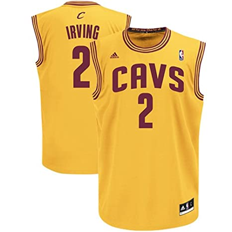96eb44d13 NBA adidas Kyrie Irving Cleveland Cavaliers Revolution 30 Replica  Performance Jersey - Gold (Large)