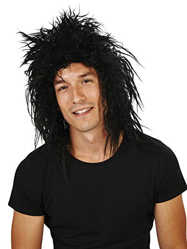 80s Rocker Wig Costume (80s Rocker Fancy Dress)