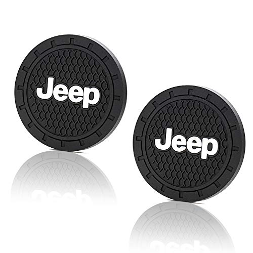 Seven Sparta Auto Coasters Fits Most of Jeep Grand Cherokee, Compass, Patriot, etc. and 2.75'' Diameter Silicone Cup Holder Coasters, Car Coasters, 2 Pack -