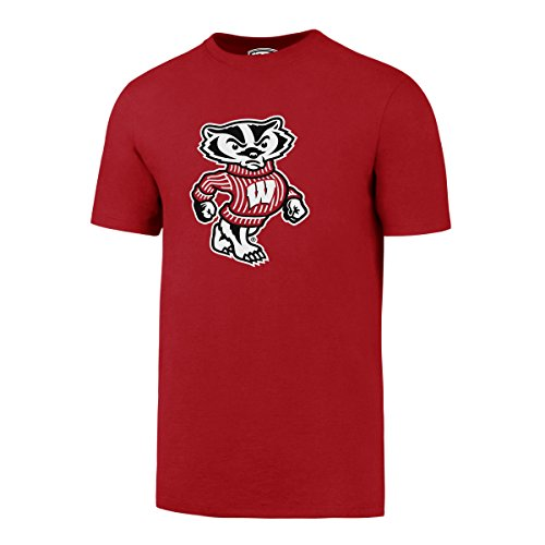NCAA Wisconsin Badgers Men's OTS Rival Tee, Red, Large