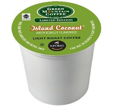 Green Mountain Coffee Island Coconut K-cup Coffee 96 Count (4 boxes of 24 K-Cups each) by Green Mountain Coffee