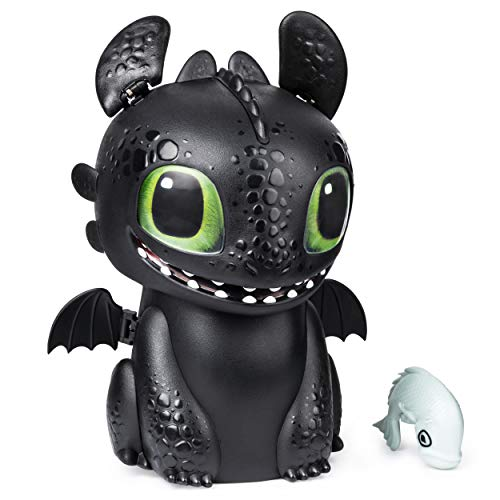 41yHgkx8WDL - Dreamworks Dragons, Hatching Toothless Interactive Baby Dragon with Sounds, for Kids Aged 5 & Up