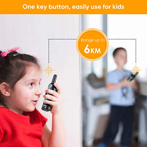 Walkie Talkies for Kids, Cakie 22 Channel FRS/GMRS 2 Way Radio (up to 3 7  Miles) UHF Hand-held Kids Walkie Talkies with Back-lit LCD Screen, Toys for