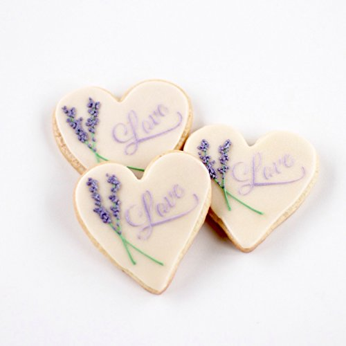 ½ Dz. Love of Lavender Cookies! Vanilla Sugar Cookies with a Lavender Theme! Fields of Lavender are the most beautiful sites to be seen! Wedding, Bridal Floral Themed Party Favors! Birthday Gift!