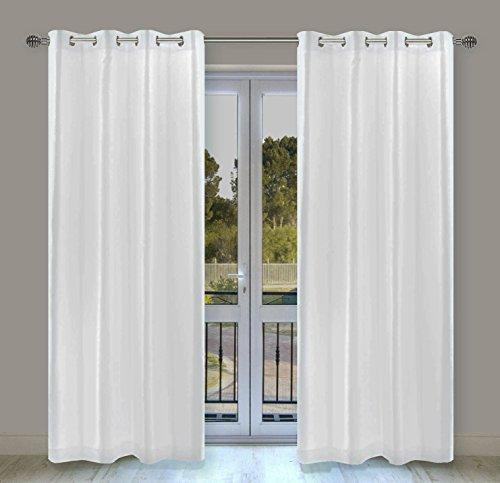Orange Filtering Blinds Light (LJ Home Fashions 29 Silkana Faux Silk Grommet Curtain Panels (Set of 2) 56