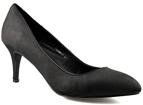 Stiletto Mid Schuhe 8 Damen Work 2 Womens 5 Pumps Ferse On Größe New Slip Courts Schwarz qxqCgtwf
