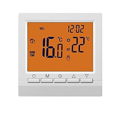 Beok BOT513-OR - Termostato de gas con modos programables y manuales, pantalla digital