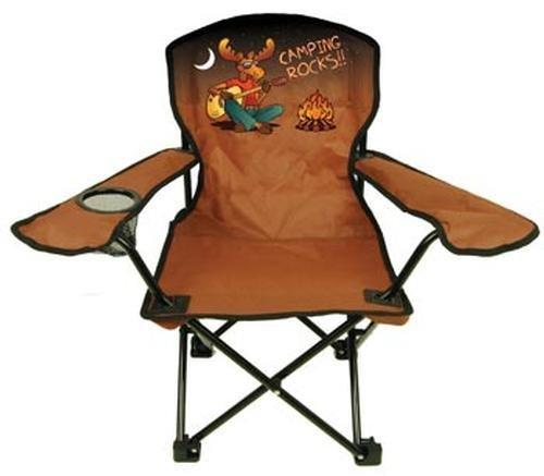 Kids Folding Camp Chair, Ages 2-6, Rockin Moose (Color Varies)