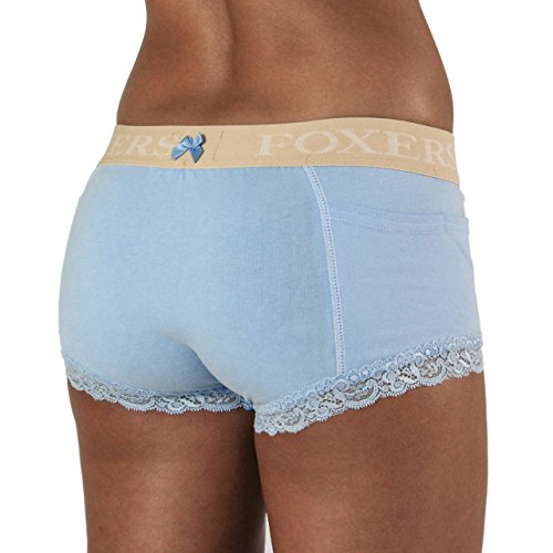 63655b6ba076 on sale Women's Boxer Brief Underwear with Pockets | FOXERS Cotton Boy  Shorts Panties