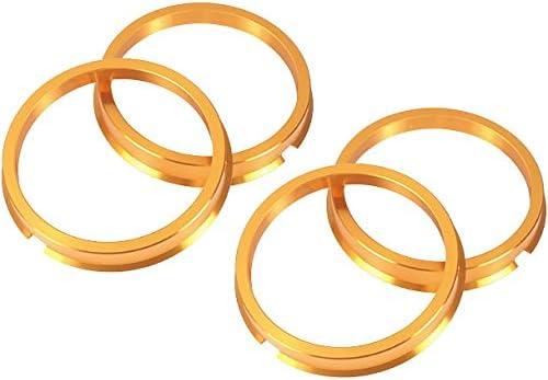 ●KYO-EI●ツバ付 ハブリング●4個 [1SET]●73mm→57mm●ゴールドアルマイト仕上げ●軽合金製●超軽量ジュラルミン●
