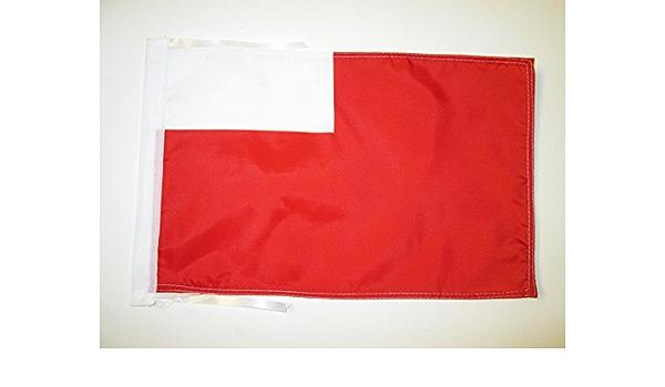 AZ FLAG Bandera de Abu DABI 45x30cm - BANDERINA Abu Dhabi EN Emiratos ÁRABES Unidos 30 x 45 cm cordeles: Amazon.es: Jardín