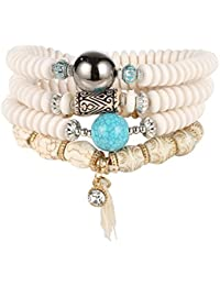 Jocetyle Ethnic Retro Women Bracelet Multilayers Beads Chain Tassels Bracelets Jewelry Decor