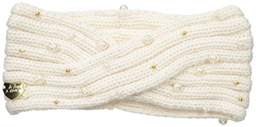 Betsey Johnson Women's Crazy For Pearls Headband, Ivory, One Size