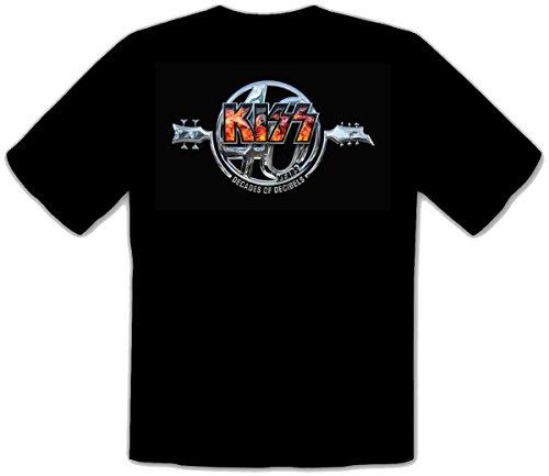 KISS Metal Rules Rock schwarze Fun Music T-Shirt -019