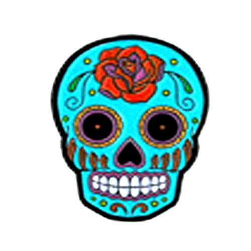 Sunny Buick Rose Sugar Skull, Licensed Original Artwork, Expertly Designed ENAMEL PIN - 1.25
