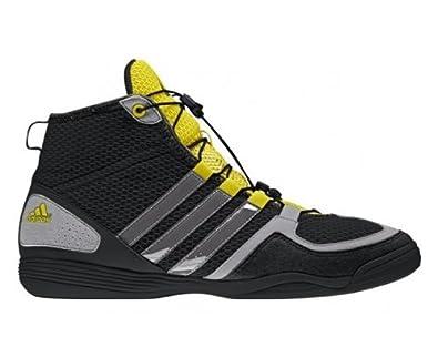 adidas Boxfit 3 Adult Boxing Boot, Black/Grey/Yellow, UK8