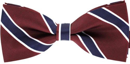 Tok Tok Designs® Handmade Men Bow Ties - B121 (Burgundy)
