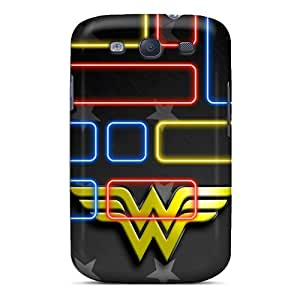 Anti-Scratch Hard Cell-phone Cases For Samsung Galaxy S3 With Allow Personal Design Trendy Wonder Woman Logo Image AnnaDubois
