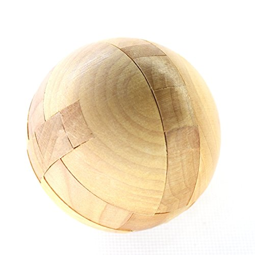 Joyeee 3D Wooden Brain Teaser Puzzle Ball Lock – Diamond Cube Interlocking Jigsaw Sphere Puzzles for Teens and Adults - Challenge Your Logical Thinking - Ideal Gift and Decoration (Ball Jigsaw Puzzle)