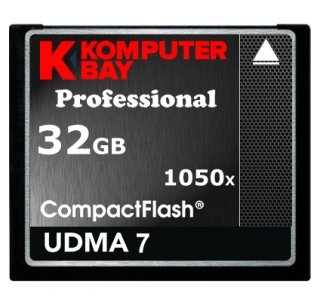 Komputerbay 32GB Professional Compact Flash CF 1050X écrire 100 Mo/s en lecture 160 Mo/s Extreme Speed UDMA 7 RAW 32 Go