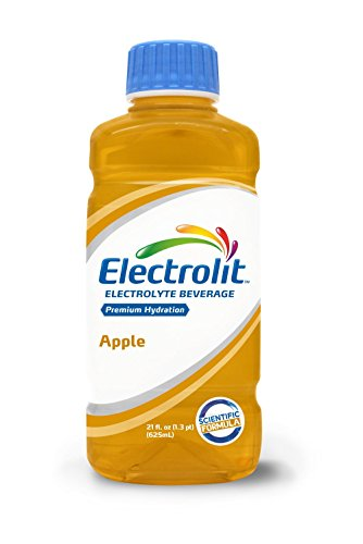 Electrolit Electrolyte Hydration & Recovery Drink, 21oz, Apple, 12 Pack