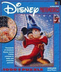 Disney Photomosaics 1000 pc Puzzle Mickey Mouse as the SORCERER'S APPRENTICE by Buffalo Games