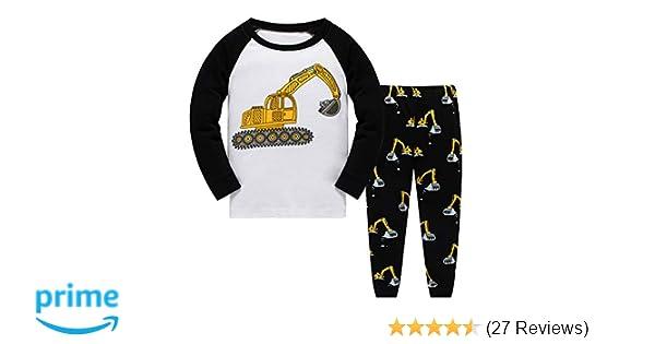 60290f865 Amazon.com  Qzrnly Toddler Pajamas Boy Pjs Dinosaur Cotton Easter ...