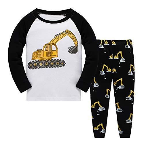 fdc7693ca7 Qzrnly Toddler Pajamas Dinosaur Little Boys Clothes Truck Kids Pjs Sleepwear  (2 Years