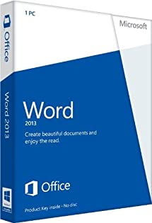 amazon com microsoft word 2013 key card no disc software