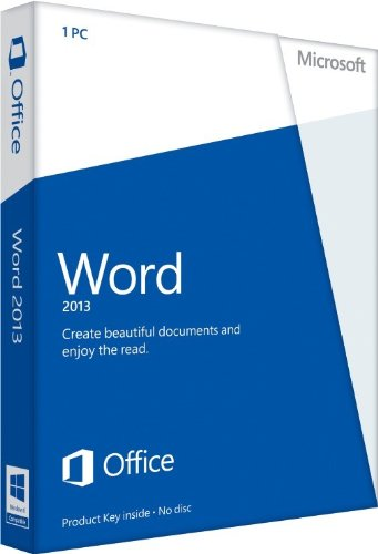 Microsoft Word 2013 Key Card (No Disc)